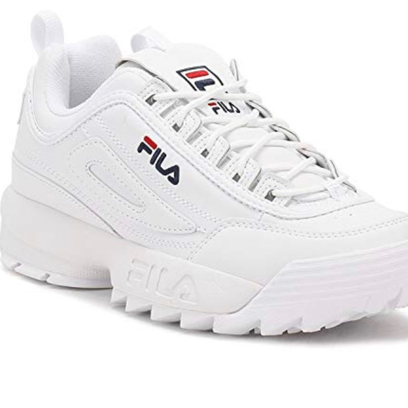 White Sneakers Disruptor Shoes